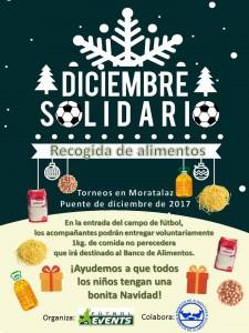 Cartel solidario recogida de alimentos