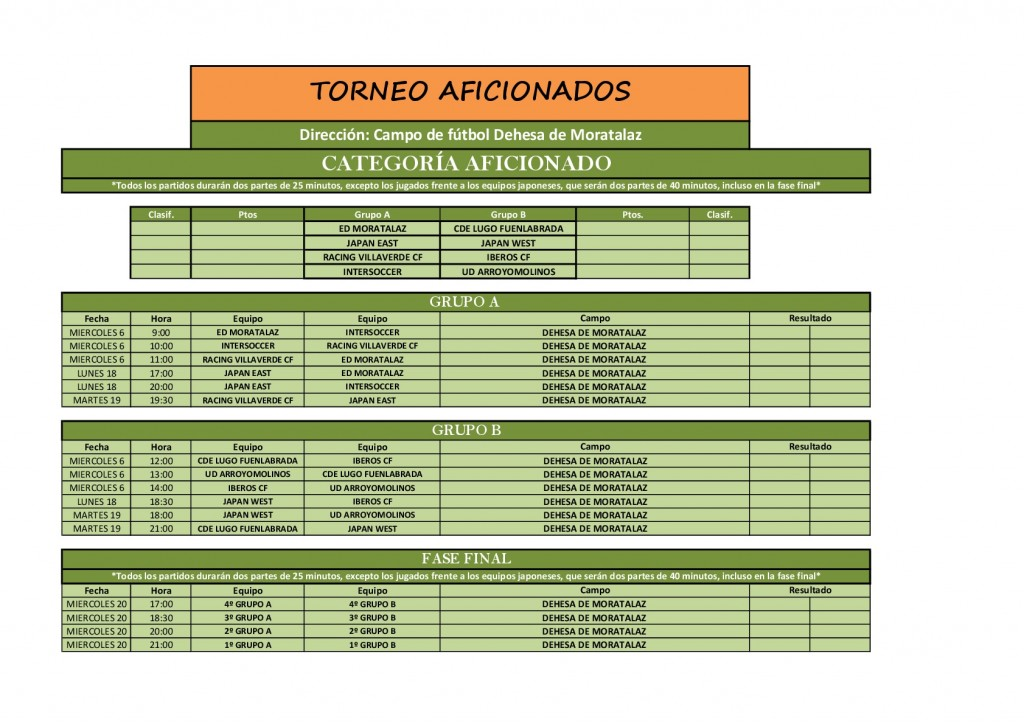 Torneo Fútbol In Events Moratalaz