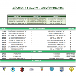 11 junio - Alevín Primera