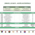 28 mayo - Alevín Autonómica
